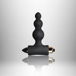 Plug vibrador silicona BUBBLES + RO80 - negro