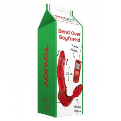 Arnés doble vibrador ToyJoy - Bend OVER Rojo