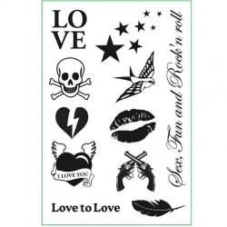 Set de tatuajes para decorar el cuerpo