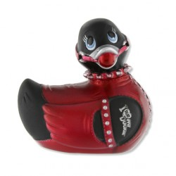 Pato vibrador Bondage MINI - negro/rojo