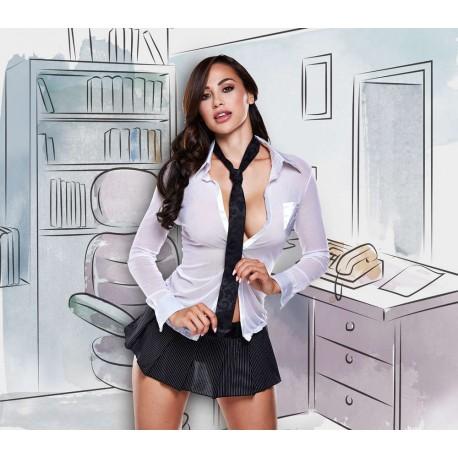 1256 - Disfraz secretaria con corbata