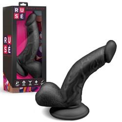 Dildo realista negro flexible de silicona RUSÉ