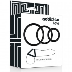 Set 3 anillos pene ADDICTED
