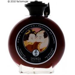 Pintura corporal comestible vino/fresas Shunga