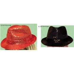 Sombrero de lentejuelas - rojo o negro