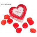 Corazón pétalos de rosas