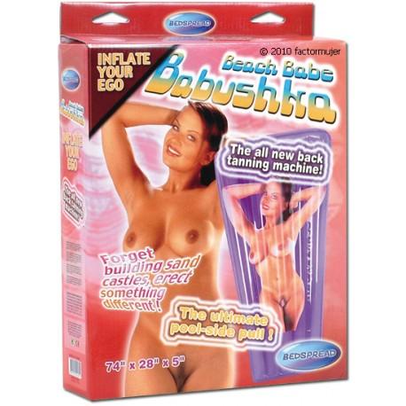 Colchoneta playa mujer con agujero vagina