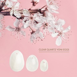 Set huevos vaginales CUARZO TRANSPARENTE (L-M-S)
