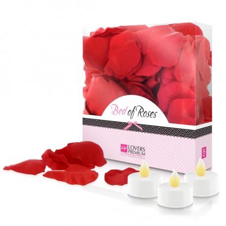Bed of Roses (pétalos y velas)