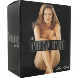 Muñeca hinchable vibradora AMERICANA