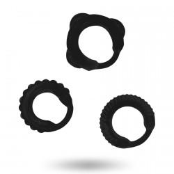 Set 3 anillos pene ADDICTED estrechos