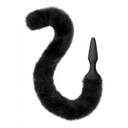 Plug negro silicona + cola de gato articulada