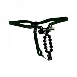 Tanga unisex con perlas + vibración