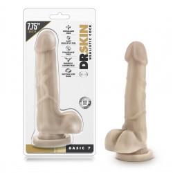 Dildo con ventosa y testículos Dr.Skin BASIC (15cm)