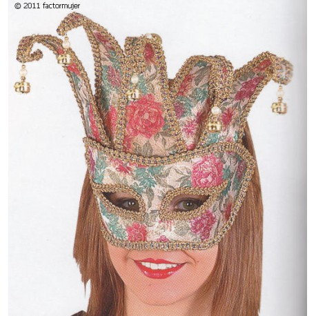 Máscara veneciana barroca cascabeles