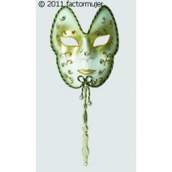 Máscara veneciana con soporte de mano