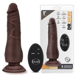 Vibrador realista remoto Chocolate (23 cm)