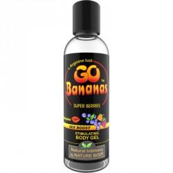 Lubricante estimulante GO BANANAS Frutos rojos(100ml) orgánico