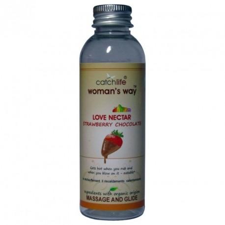 Love nectar FRESA Y CHOCOLATE (75ml) lubricante y masaje