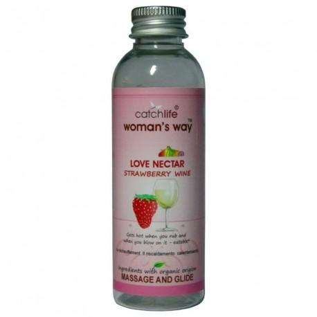 Love nectar FRESA Y VINO (75ml) lubricante y masaje