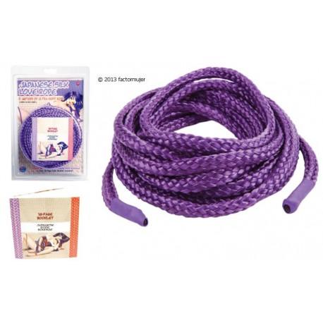 Cuerda bondage (5m) + libro - LILA