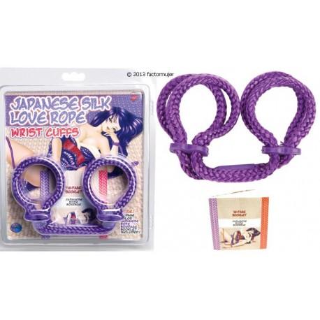Esposas de cuerda para muñecas + libro - LILA