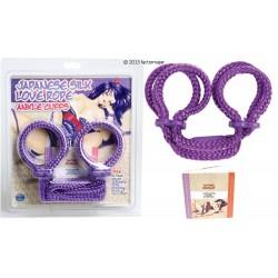 Esposas de cuerda para tobillos + libro - LILA