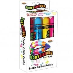 Set pintura bodypaint 4 sabores