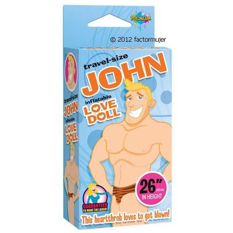 Muñeco pequeño hinchable JOHN