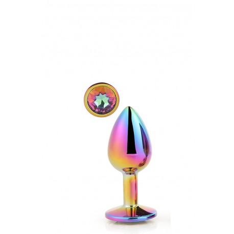 Plug brillante SMALL Aluminio multicolor S