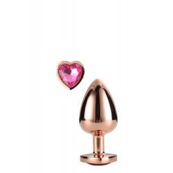 Plug con corazón SMALL Aluminio dorado S