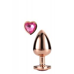 Plug con corazón MEDIUM Aluminio dorado M