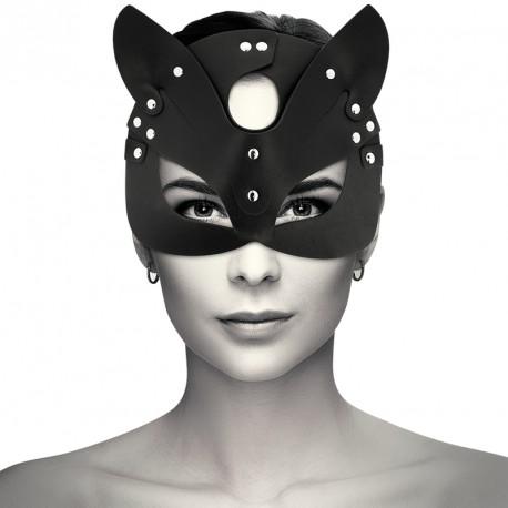 Máscara de Gato en cuero vegano Coquette