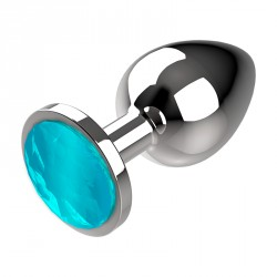 Plug metal M azul Coquette