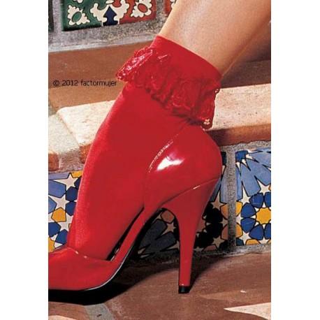 90184 - Calcetín tobillero rojo