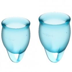 Copa menstrual Feel CONFIDENT Satisyfer Azul Claro