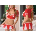 6323 - disfraz animadora roja