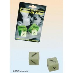 Dados de amor fosforescentes (accion/parte)