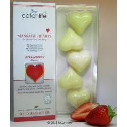 Corazón masaje - aceite sólido (FRESA)