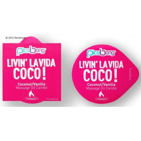 Vela masaje mini - coco/vainilla