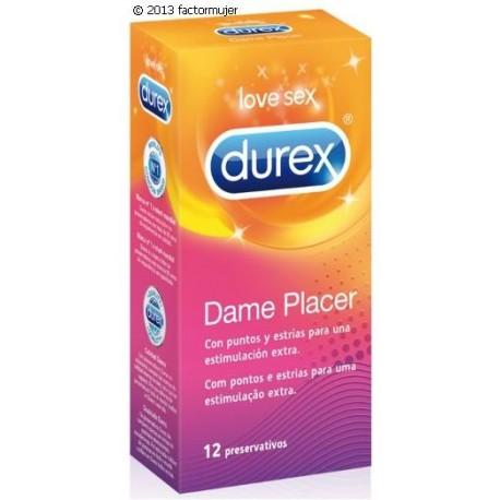 Condón Durex Dame Placer (12) - puntos/estrías