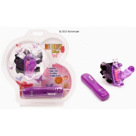 Mariposa Mini vibradora con arnés