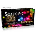 Condones Saninex - CHAMPAGNE y punteados (12)