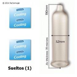 Condón Pasante frío y estriado - Cooling (1)