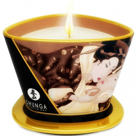 Vela masaje viaje Shunga - EXCITACION / chocolate (170 ml)