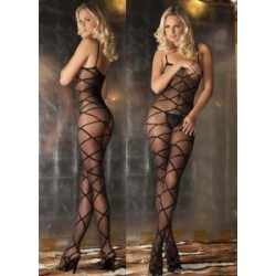 7010 - Body de tirantes transparente con cruces