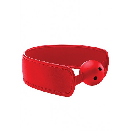 Mordaza Brace Ball Gag - Roja transpirable
