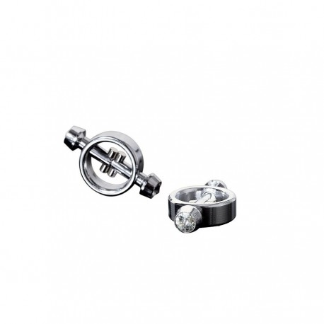 Pinzas pezones metal magnéticas