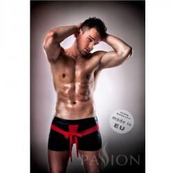 Short hombre piel rojo/negro - 001