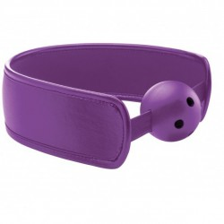 Mordaza Brace Ball Gag - lila transpirable